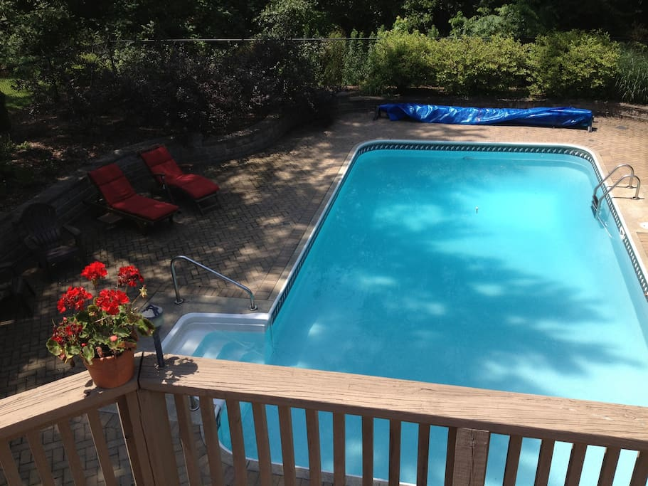 Inviting swimming pool for use in the summer.