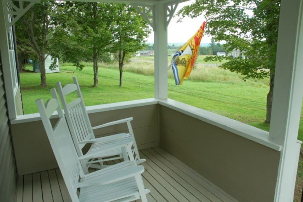 This porch was made for relaxation!