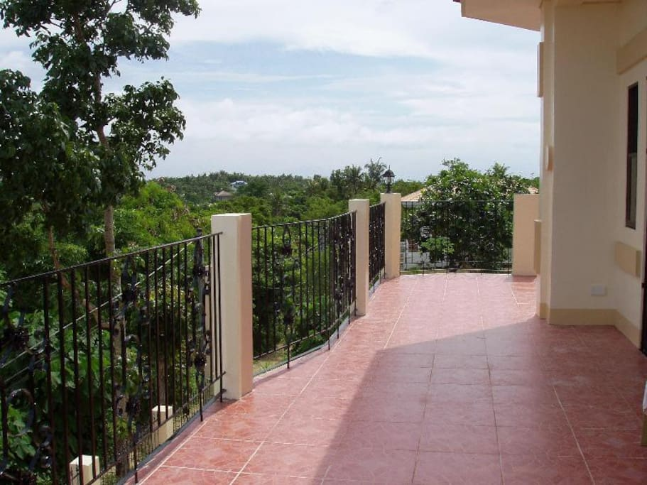 Balcony/terrace with panoramic view of the island