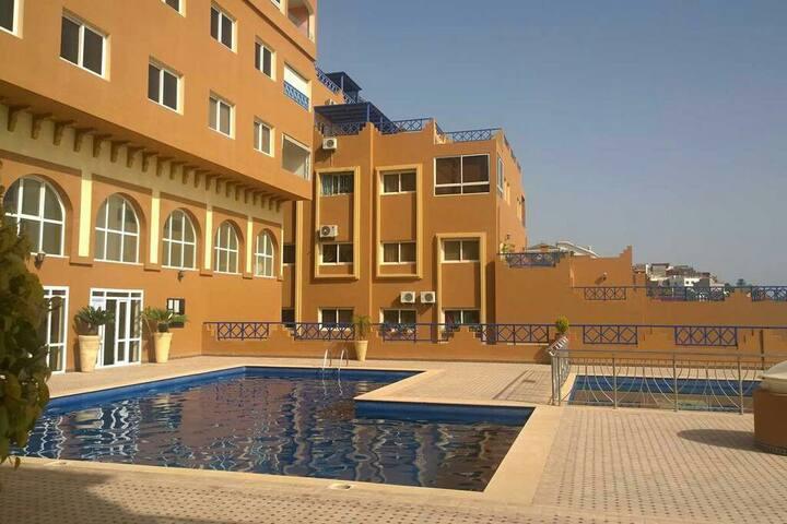 Tamraght bel appartement vue mer avec piscines