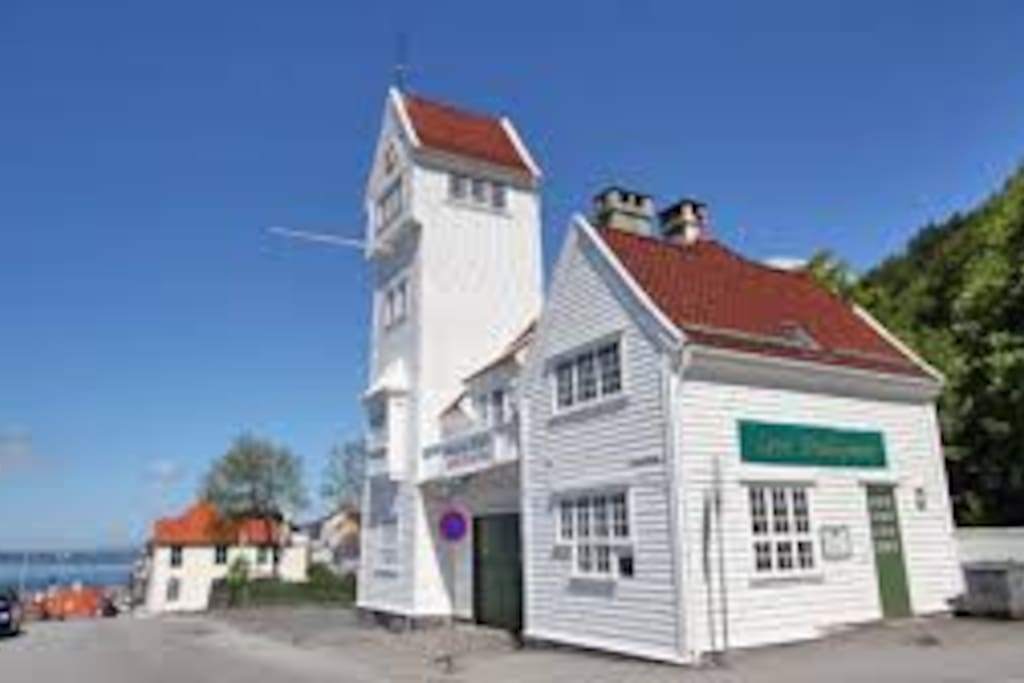 Skansen firestation.. lovely place to enjoy your coffe.. 1 min from house in walking distance