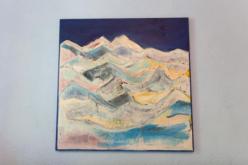 Andean landscape, made by the owner - visual artist and climber