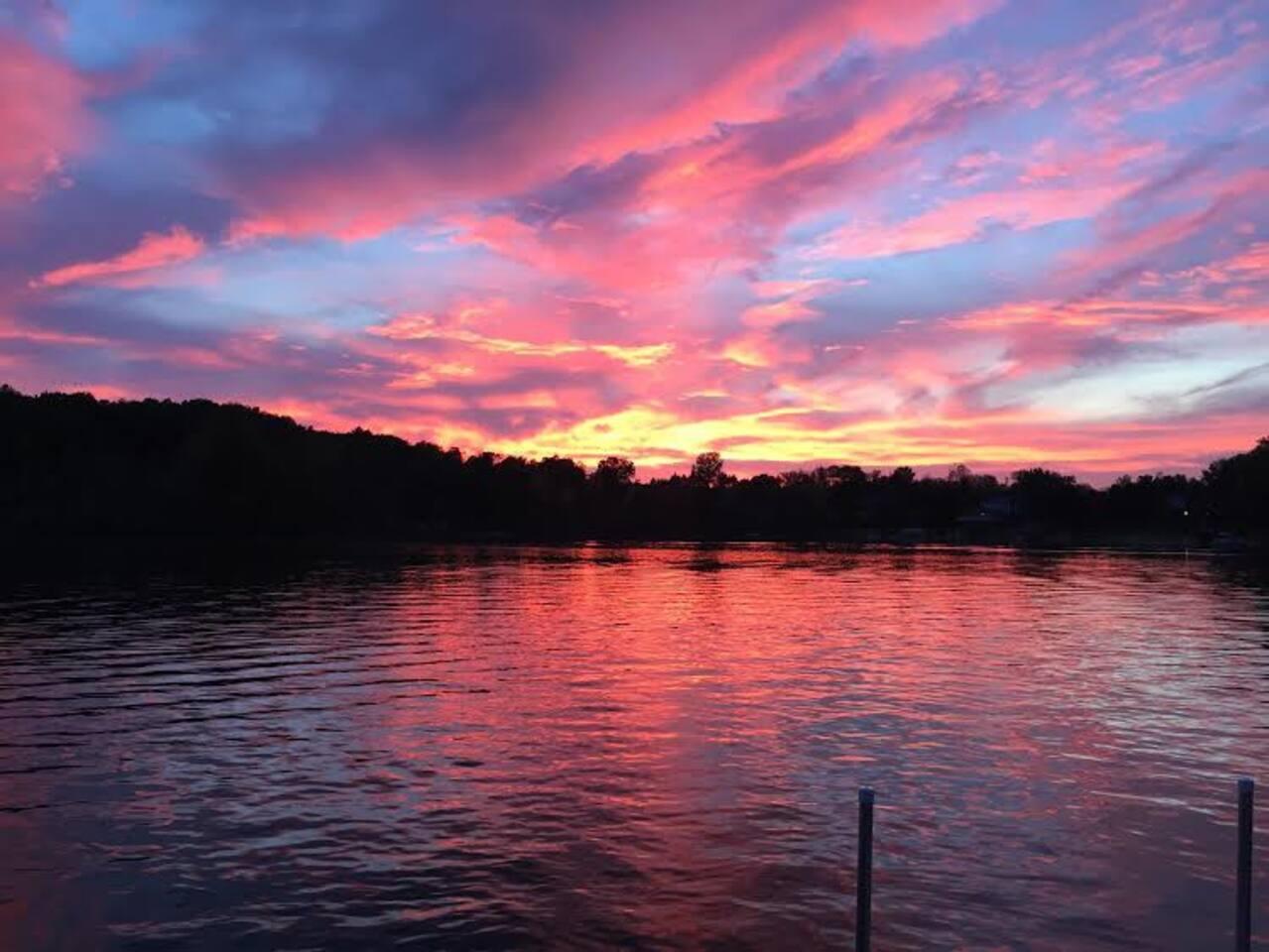 Beautiful Sunset on Murray Lake