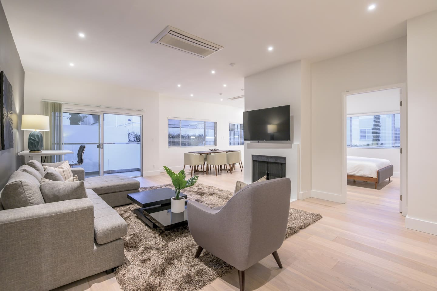 Living Space - Fireplace / TV / Dining Room