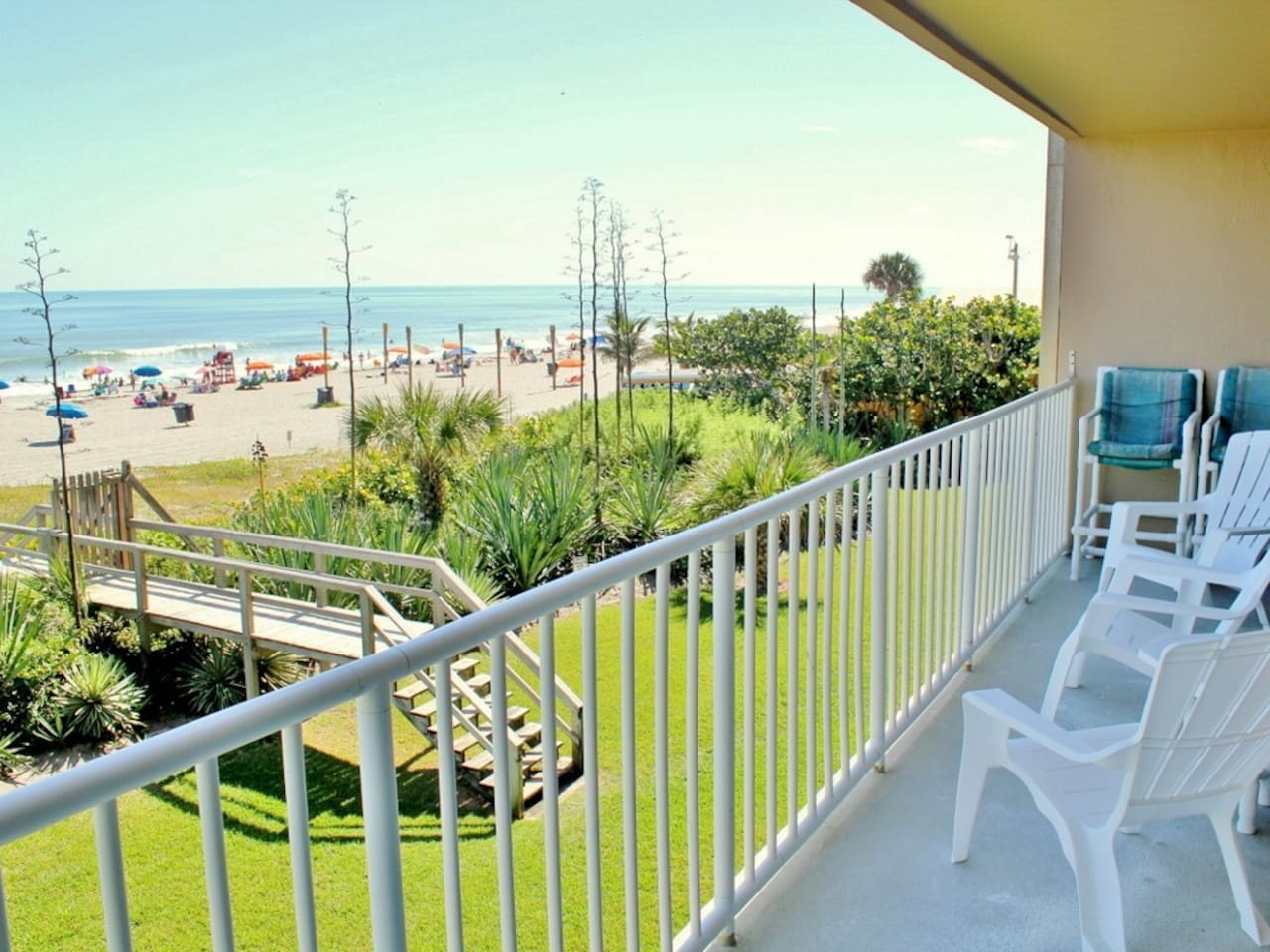 Beachfront balcony