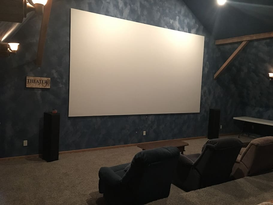 Huge theater room in the barn