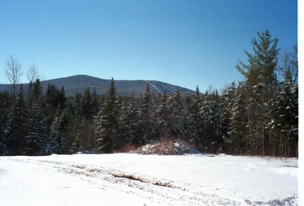 View of Stratton Mountain from the porch