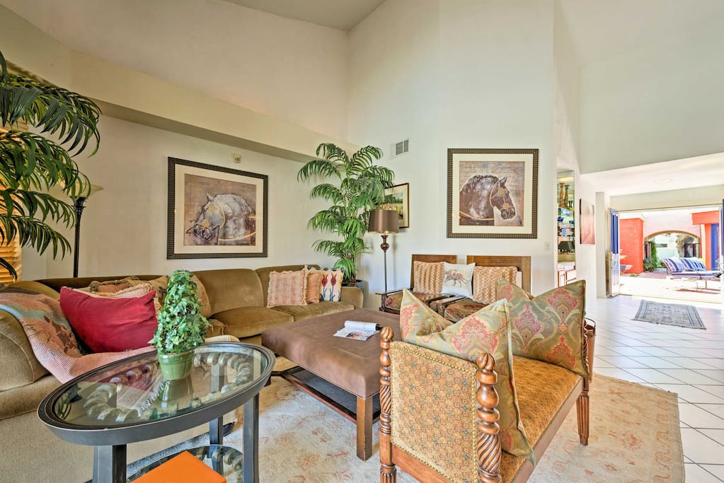 Wind down in the light and airy living area with all of the amenities of home.
