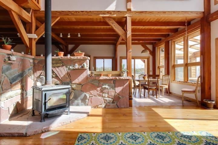 Rural high-desert home w/ decks, patio & mountain/valley view - near Mesa Verde!