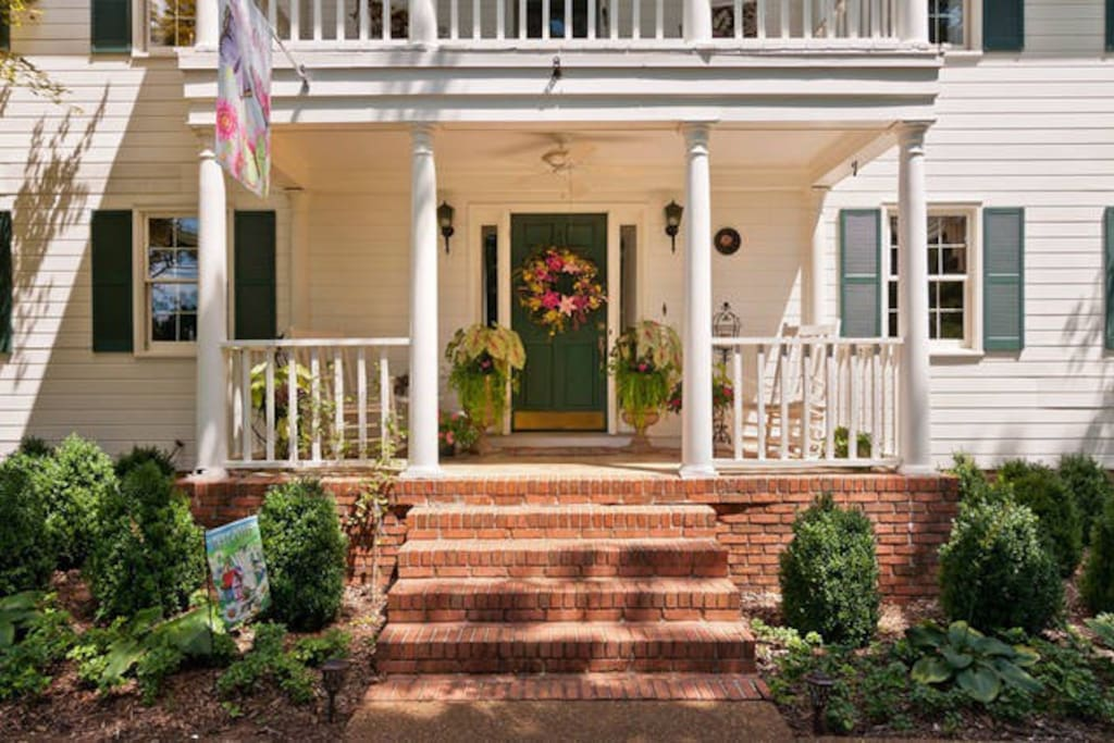 Stately front porch