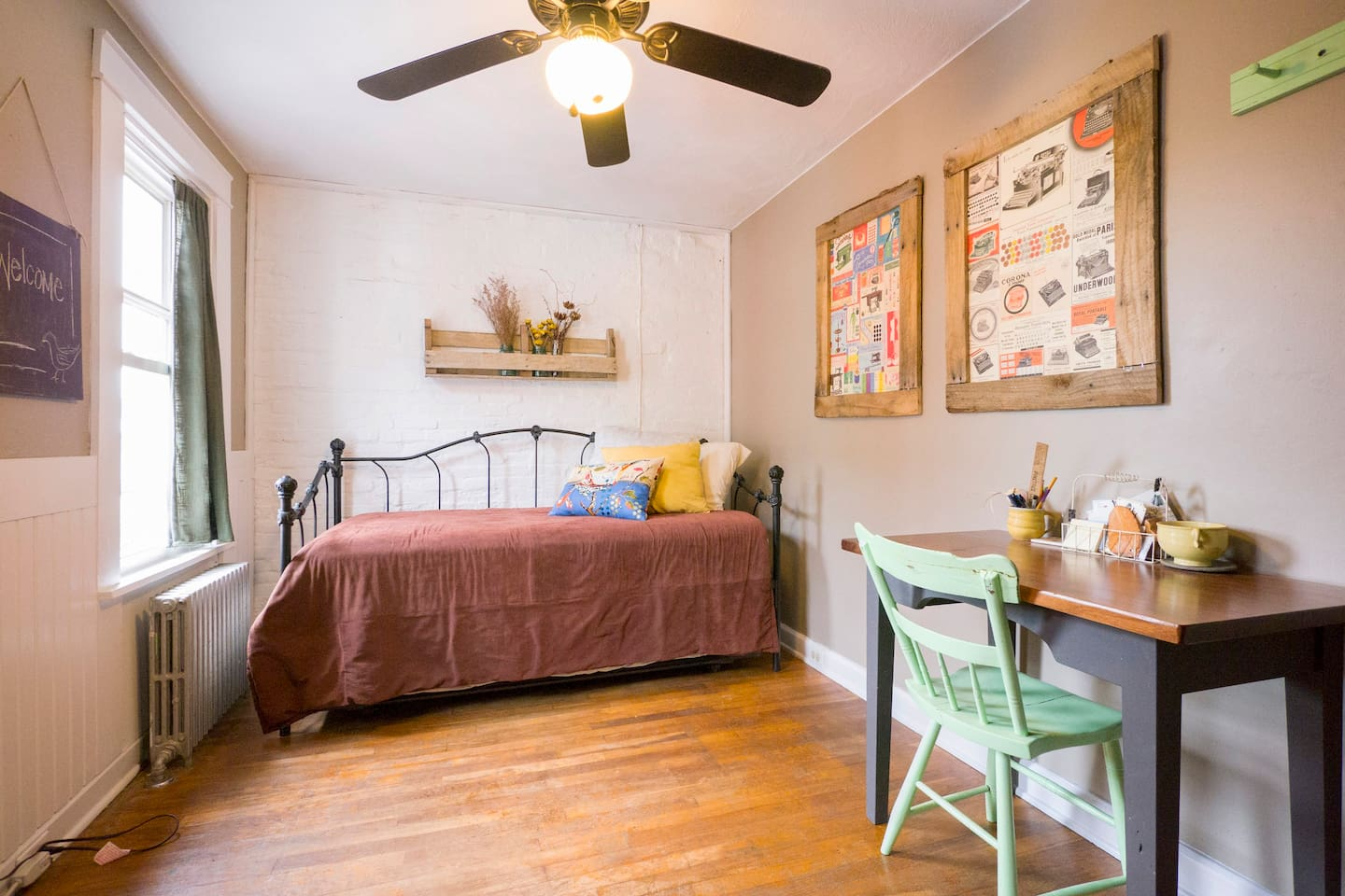 Welcome to our guest room! We can accommodate a single person...