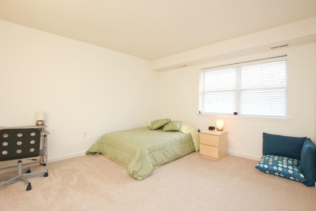 Guest bedroom,  desk, walking closet, and private bathroom