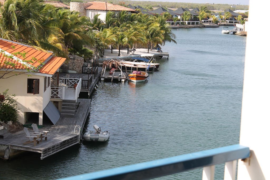 Take in the view from your screened in balcony.  Watch the div'ocean dive boat leave from here - or better yet, be on it!