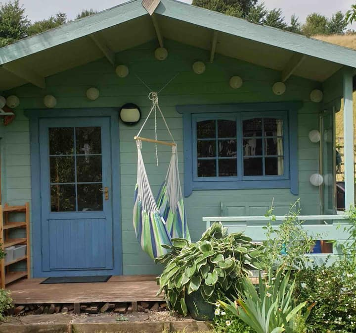 Shed with Bed - garden glamping