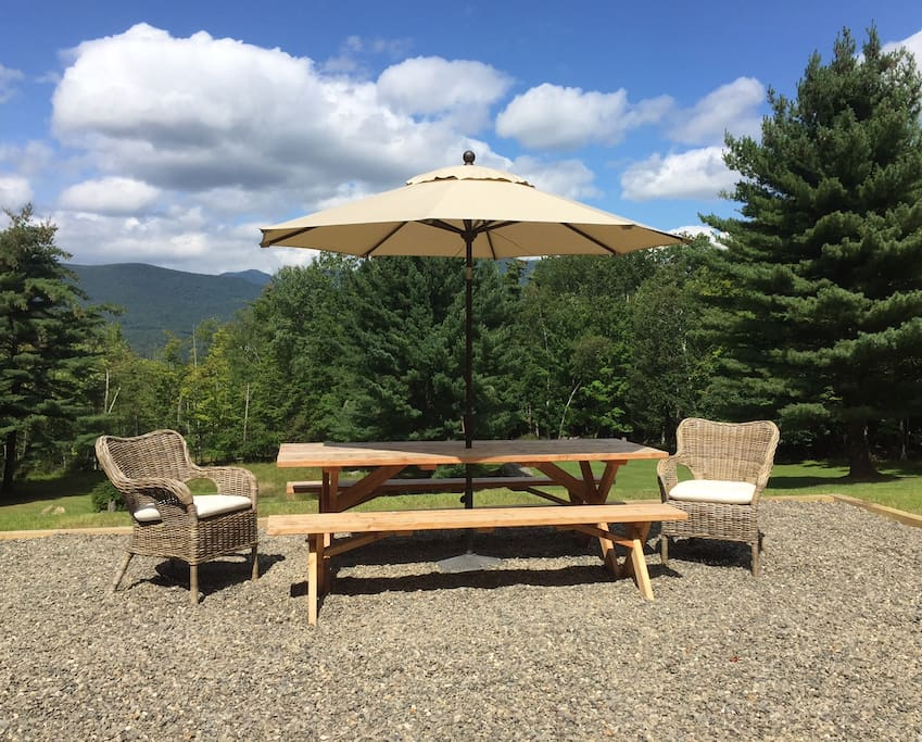 Patio with view north to Overlook Mountain
