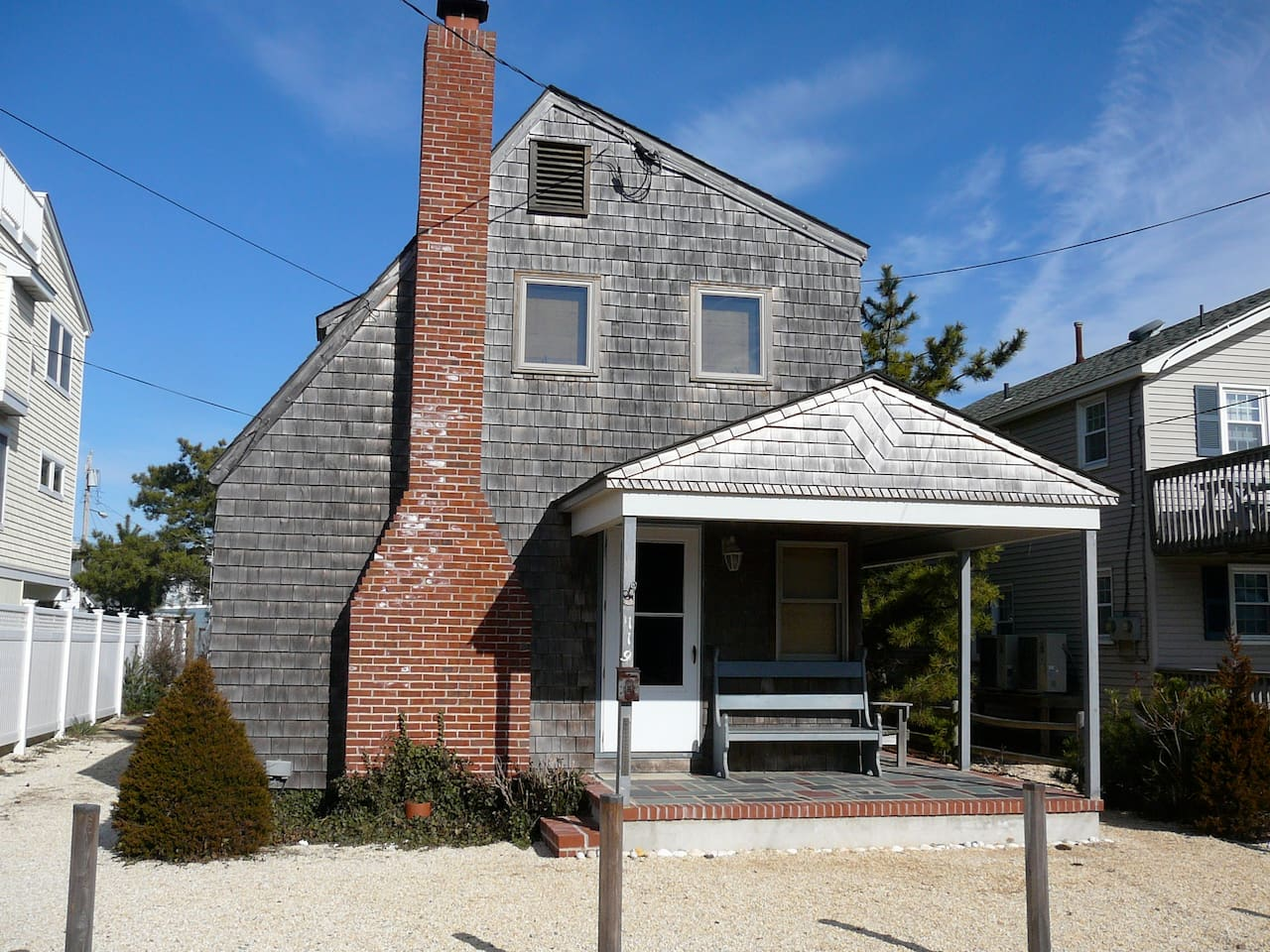 Our cedar-shake 1948 LBI home is six houses from the beach.
