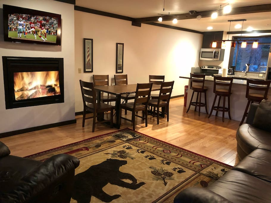 New Dining Table & 6 Chairs compliment the open concept great room.