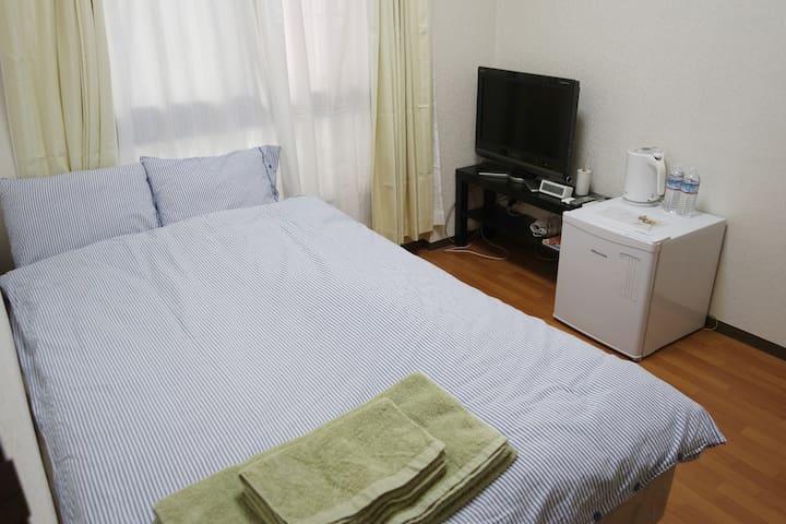 오사카역(우메다역)에서 도보 15분 & 깨끗한 개인룸 - Ōsaka-shi - Appartamento