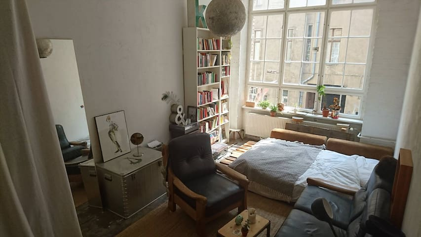 Room in fabric loft in the heart of X-berg