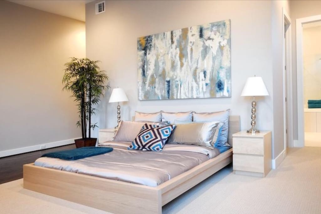 You can truly relax in the master Suite, with king bed, balcony, bar/refrigerator, double showers and double tub.   Second floor