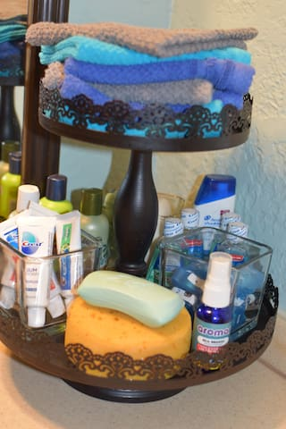 Some complementary toiletries, please take only what you need during your stay.