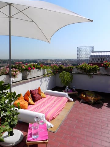 Lovely penthouse facing Gazometro!  - Rome - Apartment
