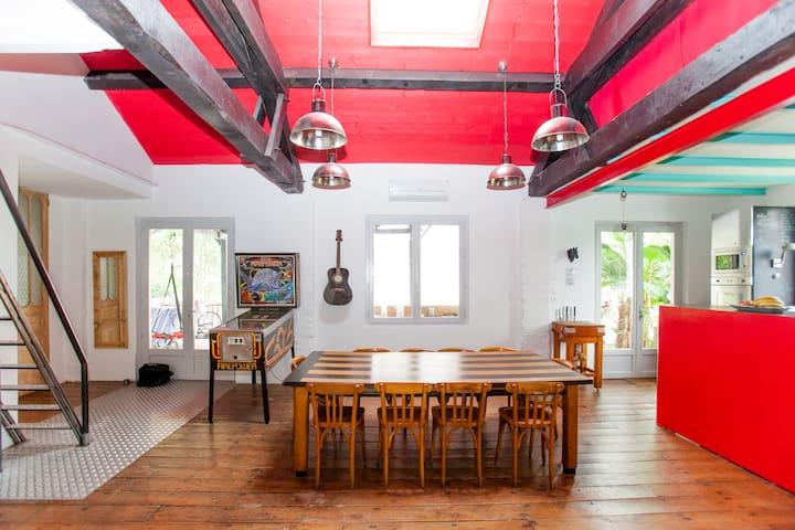 Mezzanine in loft-house - Beach 5mn - Ondres - Loft