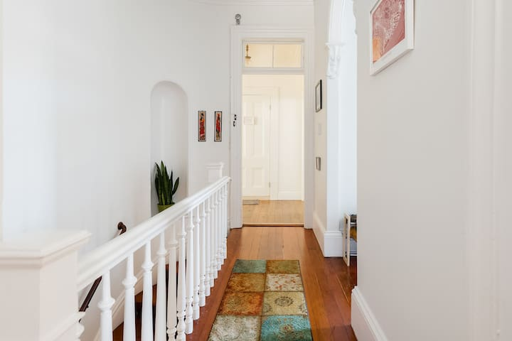 Hallway with beautiful architectural details