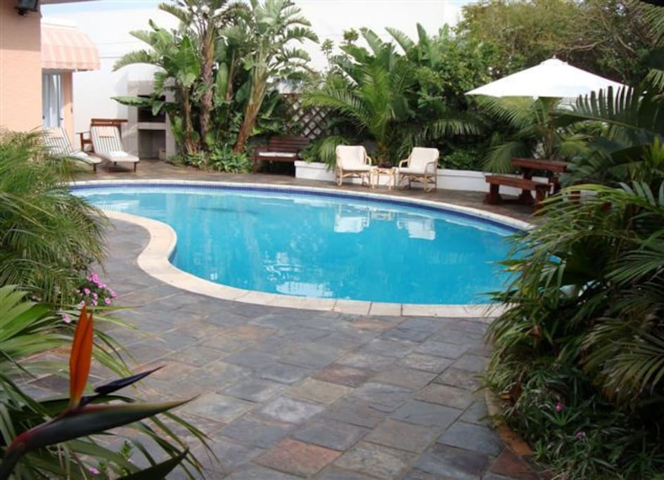 Sparkling Pool and BBQ area