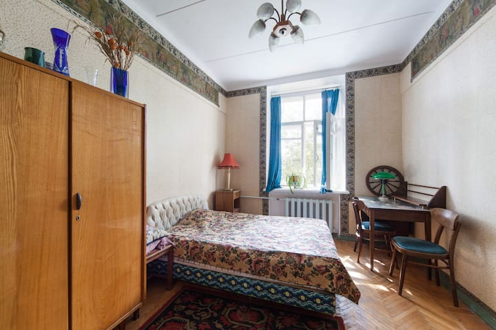 Cozy room in an quiet Moscow center