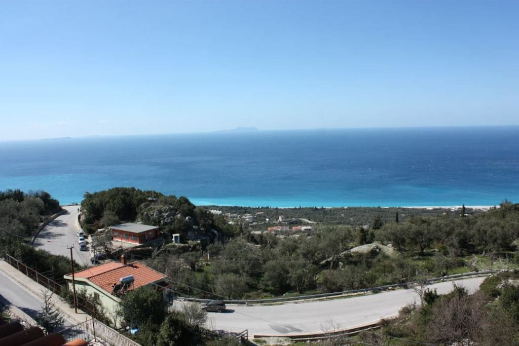 The amazing sea view from the balcony of the villa