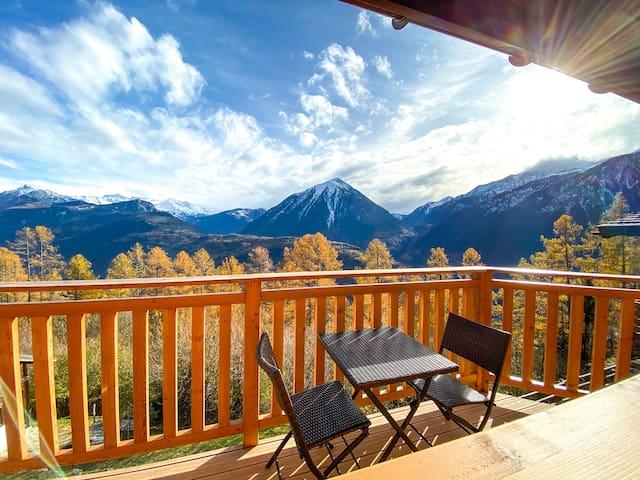 Chalet Bellavista - der Balkon der Walliser Alpen