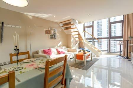 近市中心City Centre 高档复式Loft 三张床可住5人 - Xangai