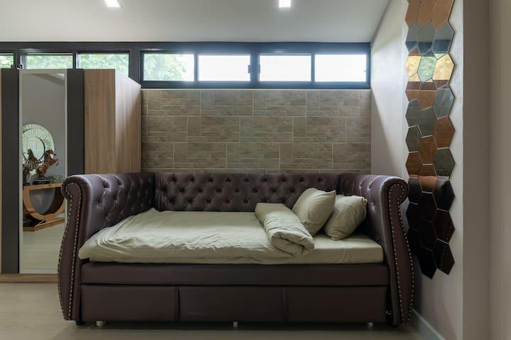 Bedroom 4 (1st floor) : Bunk bed + sofa set + wardrobe