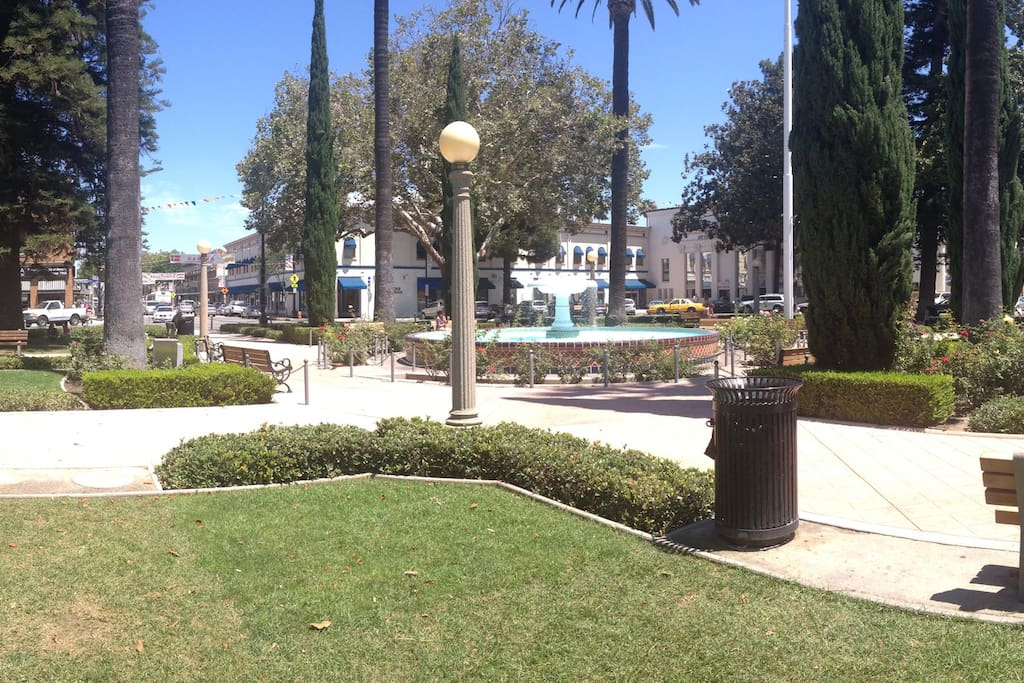 """""""The Circle"""" at Orange (downtown Orange) is 5 minutes walk away. Great place to spend the day! Plus they have two Starbucks at the same intersection, so if you finish you coffee while crossing the street, don't fret! :-)"""