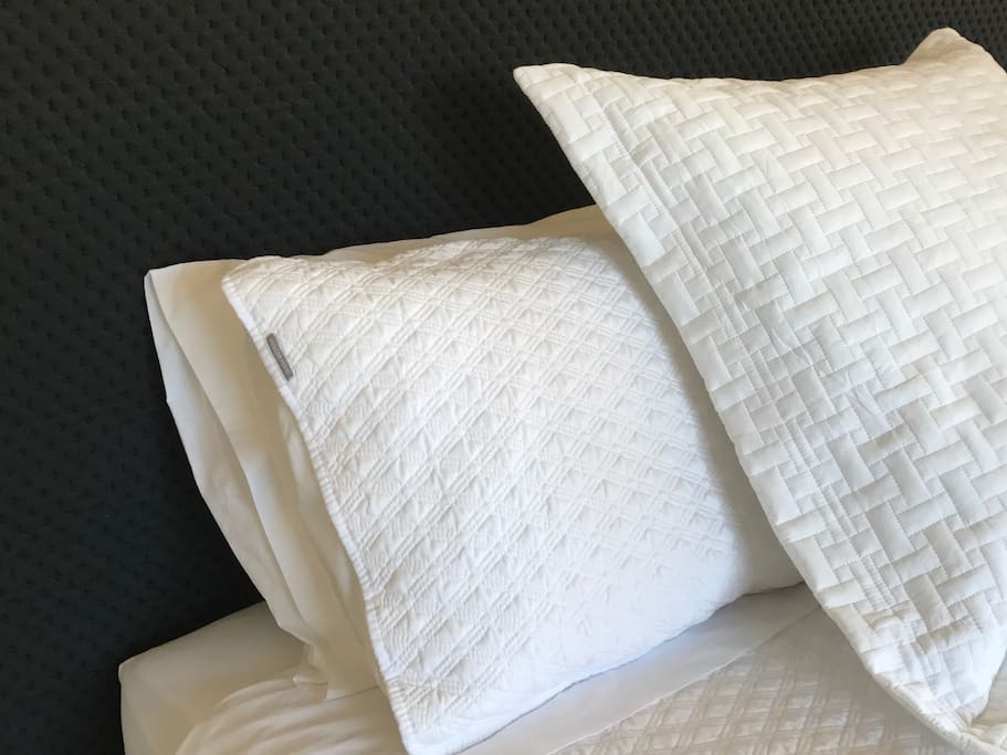 Comfortable beds with quality linen