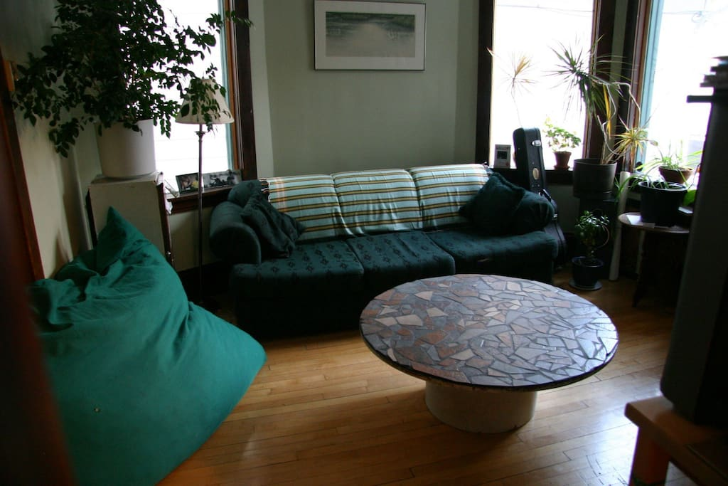 One of 2 living rooms