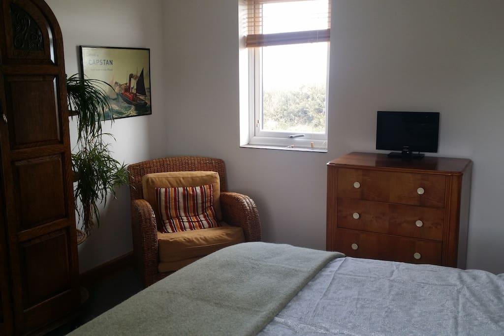 bedroom east window