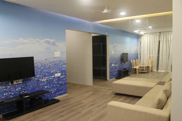 Spacious 3BHK with AC Master Bedroom in Hinjawadi