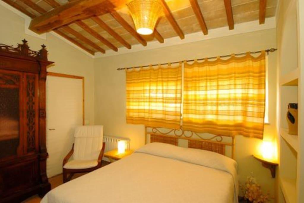 Camera da letto appartamento Camino