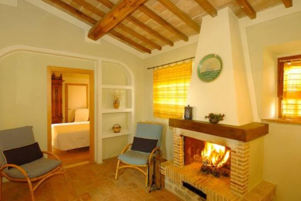 Salotto appartamento Camino