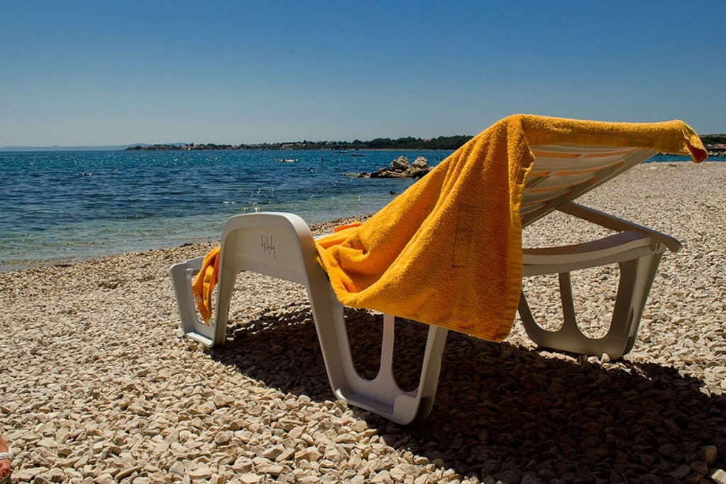 All you need this holiday, sun and the sea just 65m from the apartment