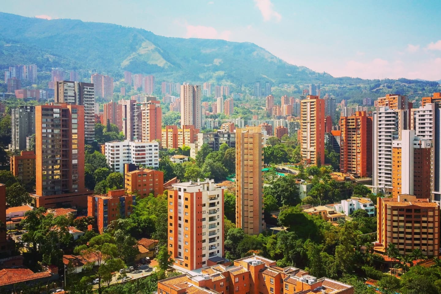 Welcome to Medellin! This is an aerial of our wonderful city.