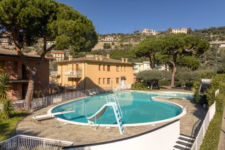 Casa Margherita - Vista mare e piscina a Camogli