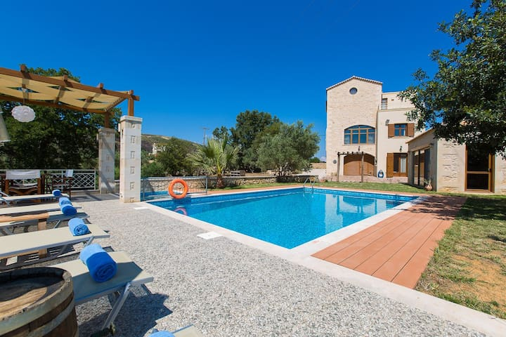 45 m2 and 1.60-2.30 m deep private swimming pool and a special 5m2 children's pool