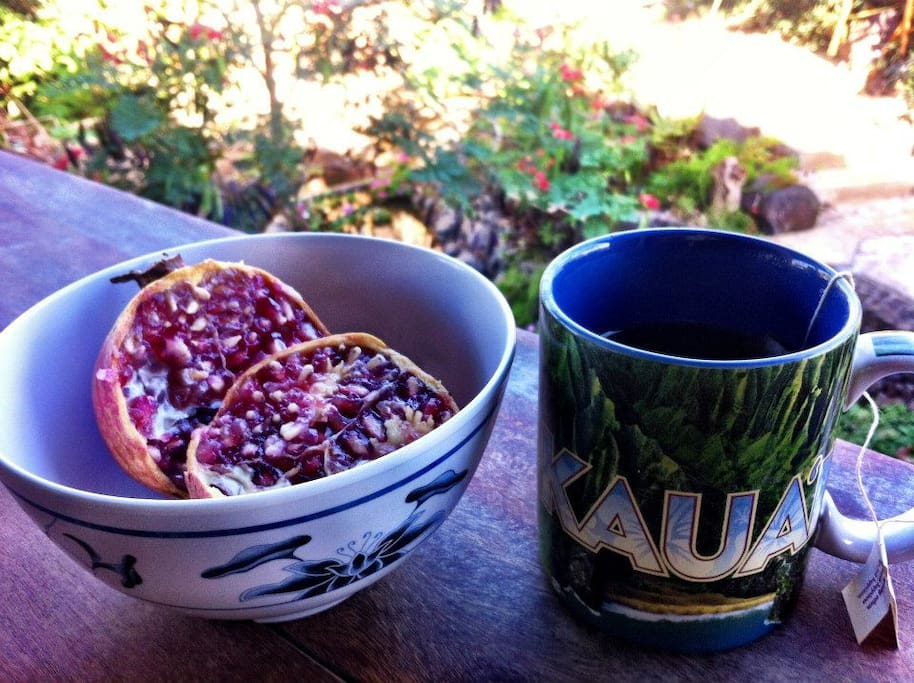 Breakfast on your ohana porch.