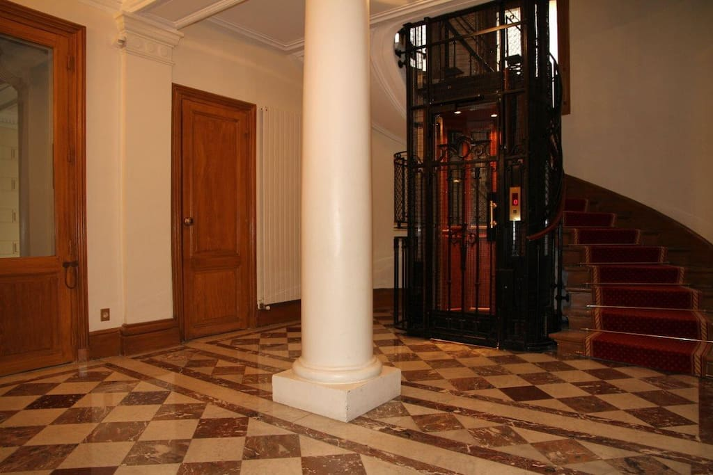 Fully renovated (but kept the building style) elevator that will bring you to the 5th floor