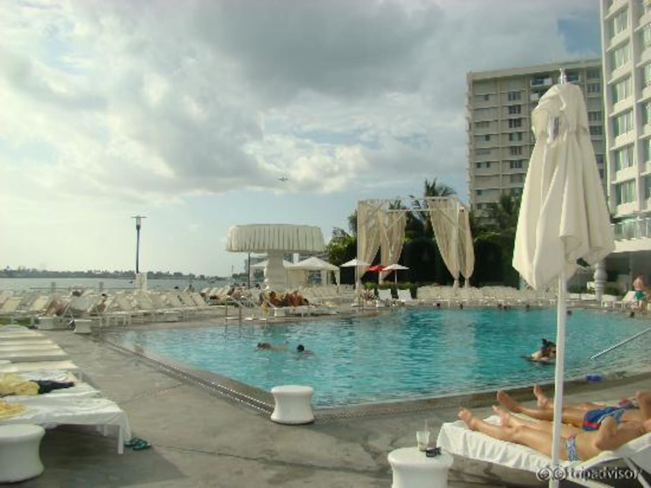 This the pool of the hotel.