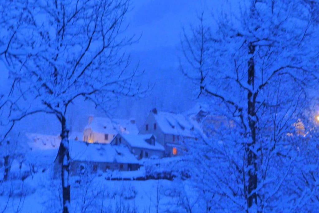Le gîte en hiver