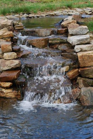 Waterfalls at golf green #7